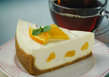 No Bake Orange Cream Cheesecake